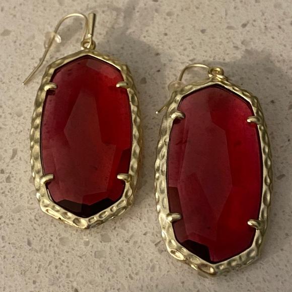 Kendra Scott translucent red Danielle earrings